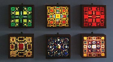 Glass lightboxes by Alex R