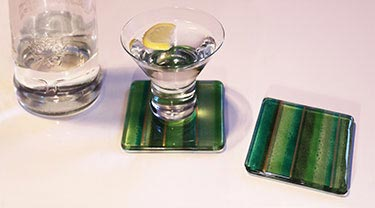 Glass coasters by Alex R